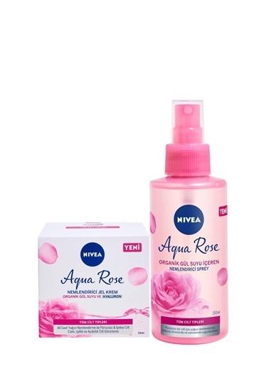 Nivea Aqua Rose Jel Krem 50 ml + Aqua Rose Sprey 150 ml Renkli